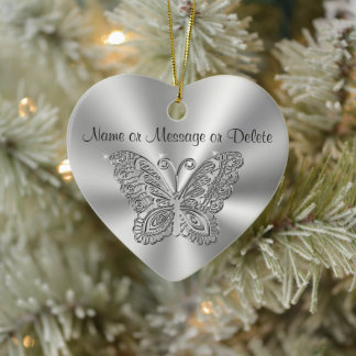 Butterfly Christmas Ornaments with 2 Text Boxes