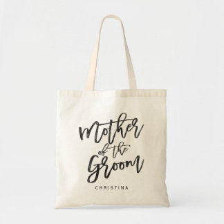 Calligraphy mother of the groom tote bag