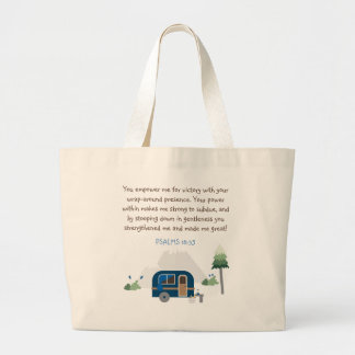 Camping and forest large tote bag