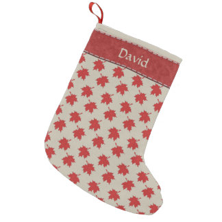 Canadian Maple Leaf - Personalized Small Christmas Stocking