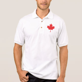 canadian maple red leaf polo shirt