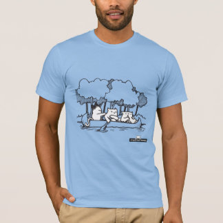 Canoe Cat by If Cats Had Thumbs T-Shirt
