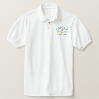 Captain - With Anchor customizable Embroidered Polo Shirt