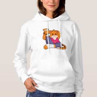 Cat at Yoga stretching exercises Hoodie