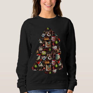 Cat Heads in Space Funny Ugly Christmas Sweater