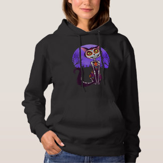 Catrina Cat, Halloween, Mexico Day of the Dead, Hoodie