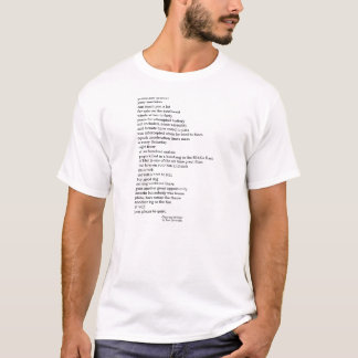 Chaos out of Order: Found Poetry T-Shirt