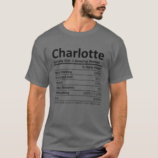 CHARLOTTE Nutrition Personalized Name Funny Christ T-Shirt