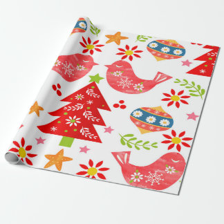 Charming Nordic Christmas Pattern Wrapping Paper