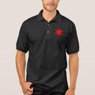 Chicago 6 pointed star polo shirt