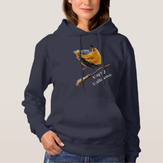 Chicken Witch on Broomstick Hoodie