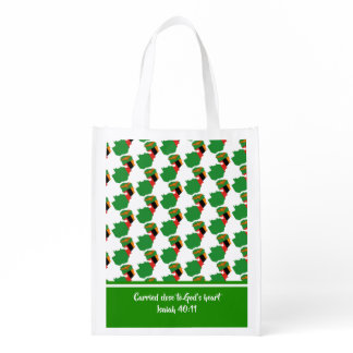 Christian Scripture ZAMBIA FLAG Isaiah Grocery Bag