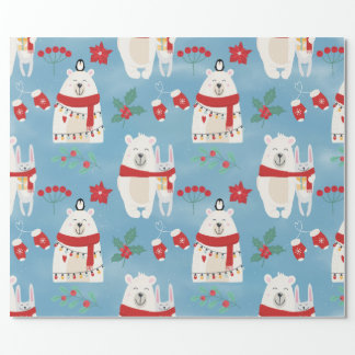 Christmas Bears Wrapping Paper