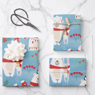 Christmas Bears Wrapping Paper Sheets