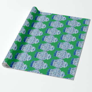 Christmas Blue and White Ginger Jar Wrapping Paper