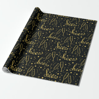 Christmas Cheers Champagne Wrapping Paper