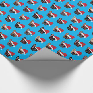 Christmas French Bulldog Pattern Wrapping Paper