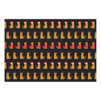 Christmas Ginger Cats in Festive Hats Wrapping Paper Sheets