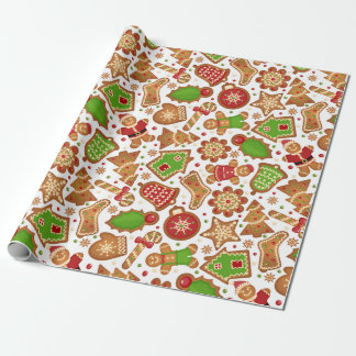 Christmas Gingerbread Wrapping Paper