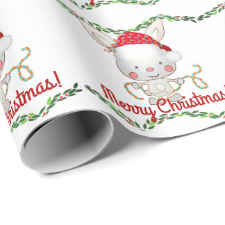 Christmas Holiday Bunny Wrapping Paper