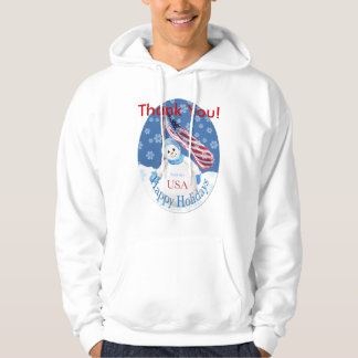 Christmas Hooded Thank You Shirt for Troops