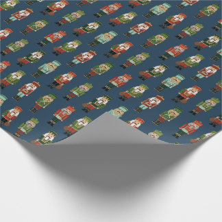 Christmas Nutcrackers navy Wrapping Paper