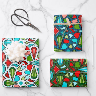 Christmas Ornament Wrapping Paper Sheets