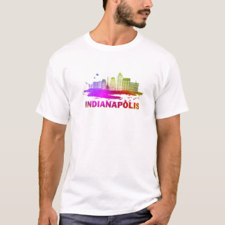 Colorful Indianapolis Cityscape - Indianapolis Sky T-Shirt