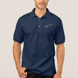 colorful travel airplanes polo shirt
