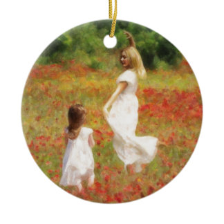 Come Dance Child - Mother and Daughter Print Ceramic Ornament