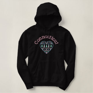 Connecticut Embroidered Heart Hoodie