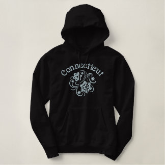 Connecticut Snowflakes Embroidered Hoodie