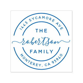 Create Your Own Modern Family Name Return Address Self-inking Stamp