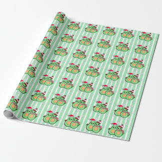 Cute Avocados with Santa Hats Christmas Wrapping Paper