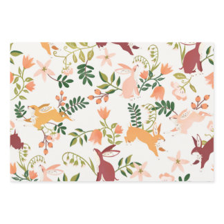 Cute Bunny Rabbit Pattern Design Wrapping Paper Sheets