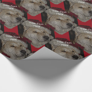Cute christmas akita in red santa hat portrait wrapping paper