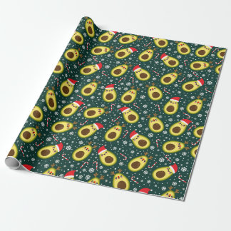 Cute Christmas Avocado Holiday Wrapping Paper