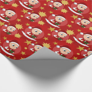Cute Christmas baby cartoon Wrapping Paper