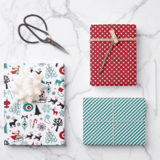 Cute Fun December Winter Holiday Season Doodles Wr Wrapping Paper Sheets