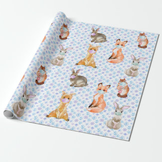 Cute Little Face mask Animals Covid 2020 Wrapping Paper