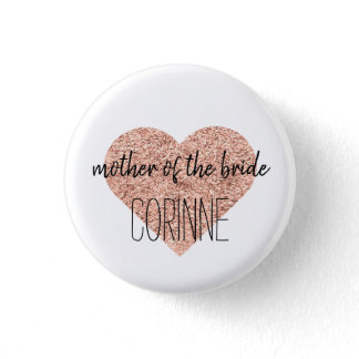 Cute Mother of the Bride Button