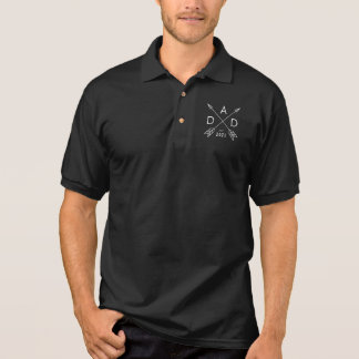 Dad Est 2021, Gift for Dad, Dad Reveal, New Dad Polo Shirt