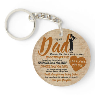Dad from Daughter Father Day Gift Keychain