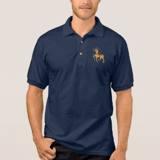 Decorated Red-Nose Reindeer at Christmas Polo Shirt
