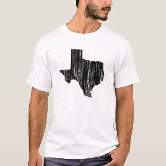 Distressed Texas State Outline T-Shirt