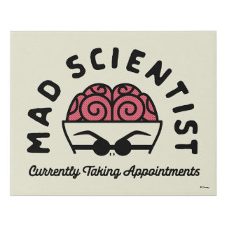 Doctor Finklestein - Mad Scientist Faux Canvas Print