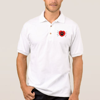 Dog Lover Heart And Paw Print Polo Shirt