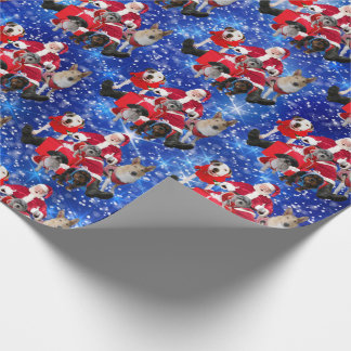 Dogs and Santa  Wrapping Paper