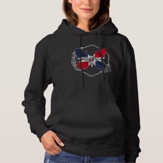 Dominican Republic Flag Beautiful Butterfly Hoodie