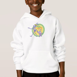 """Dot and Princess Atta """"Girls can do anything!"""" Hoodie"""